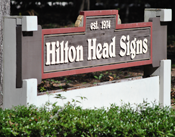 Hilton Head Signs sign outside the building
